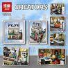 Lepin 15010 15010B Lele 30007 King 84010 (NOT Lego Creator Expert 10243 Parisian Restaurant ) Xếp hình Nhà Hàng Ở Pari Có Đèn 2469 khối