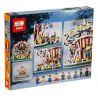 Lepin 15013 15013A (NOT Lego Creator Expert 10196 Grand Carousel ) Xếp hình Vòng Xoay Ngựa Gỗ Lớn Động Cơ Pin gồm 2 hộp nhỏ 3263 khối