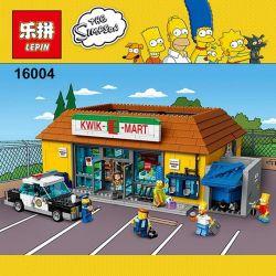 BLANK 20009 KING 83004 LEPIN 16004 LION KING 180043 Xếp hình kiểu Lego THE SIMPSONS Kwik-E-Mart KWIK-E-supermarket Siêu Thị Kwik-E-Mart 2179 khối
