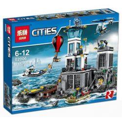 Lepin 02006 Lele 39016 Queen 82006 (NOT Lego City 60130 Prison Island ) Xếp hình Nhà Tù Trên Đảo 815 khối