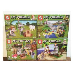Sheng Yuan 785 SY785 (NOT Lego Minecraft Build The Farm ) Xếp hình Khối Xây Dựng Trang Trại gồm 4 hộp nhỏ 432 khối
