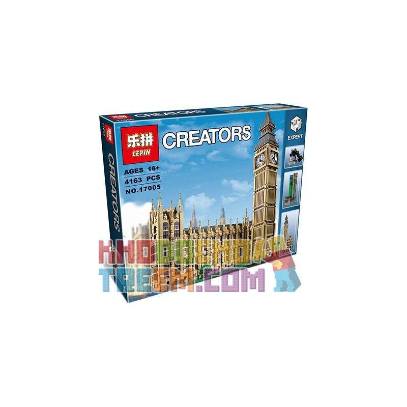 Lepin 17005 Lele 30003 (NOT Lego Creator Expert 10253 Big Ben ) Xếp hình Tháp Đồng Hồ Big Ben 4163 khối