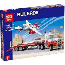 LEPIN 21017 Xếp hình kiểu Lego MODEL TEAM Mach II Red Bird Rig Truck Tow And Helicopter Xe đầu Kéo Chim đỏ Thế Hệ 2 1172 khối