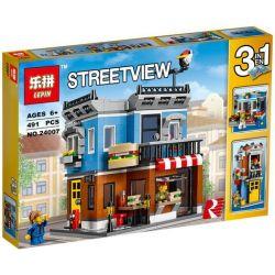 Lepin 24007 (NOT Lego Creator 31050 Corner Deli ) Xếp hình Nhà Hàng Góc Phố 491 khối