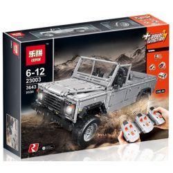 LEPIN 23003 REBRICKABLE MOC-0580 0580 MOC0580 MOC-30043 30043 MOC30043 Xếp hình kiểu Lego TECHNIC Land-Rover Defender 110 Luhu Guard 110 Xe địa Hình gồm 2 hộp nhỏ 3442 khối điều khiển từ xa