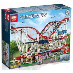 BLANK 2525 Decool 18003 Jisi 18003 KING 84028 LEPIN 15039 LION KING 180068 SHENG YUAN SY 1125 Xếp hình kiểu Lego CREATOR EXPERT Large Roller Coaster Tàu Lượn Siêu Tốc 4124 khối