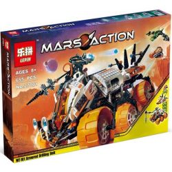 LEPIN 27001 Xếp hình kiểu Lego SPACE MT-101 Armoured Drilling Unit Space MT-101 Heavy Equipment Drill Detectors Xe Khoan Thăm Dò Sao Hỏa 635 khối