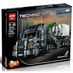 NOT Lego TECHNIC 42078 Mack Anthem Markka , Bela 10827 Lari 10827 LEPIN 20076 Xếp hình Xe đầu Kéo Siêu Hiện đại 2595 khối