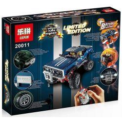 NOT Lego TECHNIC 41999 4x4 Crawler Exclusive Edition 4x4 Crawler Limited Edition , LEPIN 20011 Xếp hình ô Tô địa Hình 1585 khối điều khiển từ xa