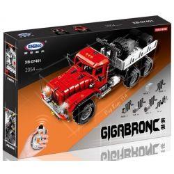 XINGBAO XB-07401 07401 XB07401 Xếp hình kiểu Lego TECHNIC Truck T14 KrAZ 255B 6x6(Red) Giga BTONC Future Big Rigs T14 Xe Tải 2054 khối điều khiển từ xa