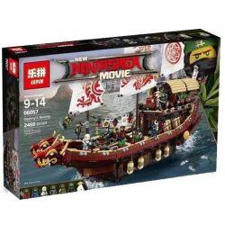 Lepin 06057 Lele 31076 82203 Bela 10723 Sheng Yuan 960 SY960 Queen 89043 (NOT Lego Ninjago Movie 70618 Destiny's Bounty ) Xếp hình Thuyền Rồng 2455 khối