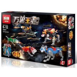 LEPIN 24037 Xếp hình kiểu Lego CREATOR 万兽王 五合一合体 神兽金刚 Baoren King Galan God Of War King Gang Beast King Golion Dũng Sỹ Hesman lắp được 6 mẫu 1772 khối
