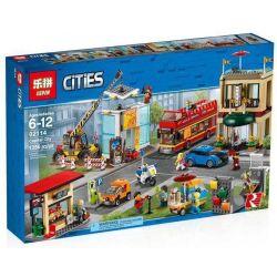 NOT Lego CITY 60200 Capital City Center Square , BLX 82310 LEPIN 02114 Xếp hình Quảng Trường Trung Tâm Thành Phố 1211 khối