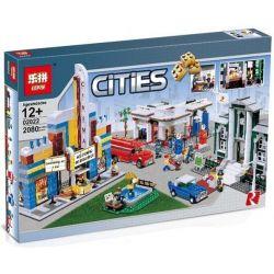 Lepin 02022 (NOT Lego Creator Expert 10184 Town Plan ) Xếp hình Thị Trấn Nhộn Nhịp 2080 khối