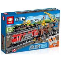NOT Lego CITY 60098 Heavy-Haul Train Overload Train , LELE 28033 LEPIN 02009 LION KING 180028 QUEEN 82009 TIGERS 40022 Xếp hình Tàu Chở Hàng Nặng Có điều Khiển Từ Xa 984 khối điều khiển từ xa