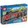 Lepin 02009 (NOT Lego City 60098 Heavy-Haul Train ) Xếp hình Tàu Chở Hàng Nặng Có Điều Khiển Từ Xa 1033 khối