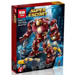 Lepin 07101 Sheng Yuan 1041 SY1041 Bela 10833 Decool 7134 Lele 34036 (NOT Lego Marvel Super Heroes 76105 The Hulkbuster: Ultron Edition ) Xếp hình Bộ Giáp Hulkbuster Phiên Bản Ultron Của Người Sắt 1527 khối