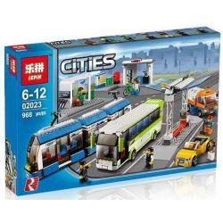 LEPIN 02023 Xếp hình kiểu Lego CITY Public Transport Station Transportation City Rail Transit Trung Tâm Giao Thông Công Cộng 864 khối