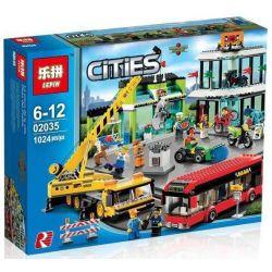 NOT Lego CITY 60026 Town Square Transportation City Square , LEPIN 02035 Xếp hình Quảng Trường Thành Phố 914 khối