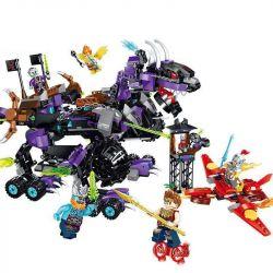 Enlighten 2216 Qman 2216 Xếp hình kiểu Lego CREATION OF THE GODS The Dark King Of KYLIN God Battle Dark Qilin King Vua Bóng Tối KYLIN 876 khối