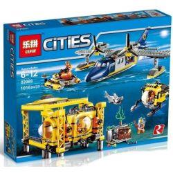 NOT Lego CITY 60096 Deep Sea Operation Base Deep Sea Series Command Base , LEPIN 02088 Xếp hình Trạm Nghiên Cứu đáy đại Dương 907 khối