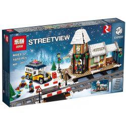 LELE 39074 LEPIN 36011 Xếp hình kiểu Lego CREATOR EXPERT Winter Village Station Winter Country Railway Station Mùa đông Nơi Làng Quê 902 khối