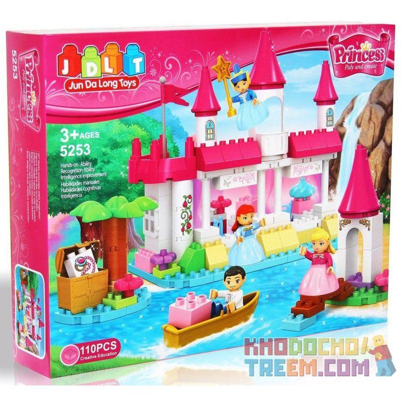 Jdlt Judalongtoys 5253A (NOT Lego Duplo Having Yatch With Sofia Princess And Amber ) Xếp hình Chuyến Du Ngoạn Của Công Chúa Sofia Và Công Chúa Amber 110 khối