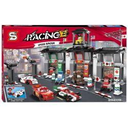 NOT Lego CARS 8679 Tokyo International Circuit Racing Mobilster 2 Tokyo Tour , SHENG YUAN SY 940 Xếp hình Cuộc Tuần Du Quanh đế Quốc Tokyo 842 khối