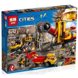 Bela 10876 Lari 10876 LEPIN 02102 SHENG YUAN SY 6999 Xếp hình kiểu Lego CITY Mining Experts Site Mining Expert Base Công Trường Khai Thác Mỏ 883 khối