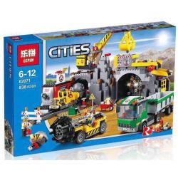 NOT Lego CITY 4204 The Mine , LEPIN 02071 Xếp hình Hầm Mỏ 748 khối