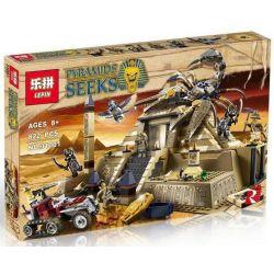 LEPIN 31001 Xếp hình kiểu Lego PHARAOH'S QUEST Egypt Scorpion Pyramid Kim Tự Tháp Của Vua Bọ Cạp 792 khối