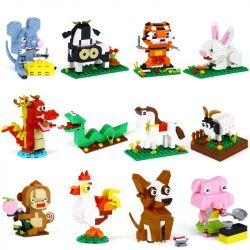 Xingbao XB-18001 XB-18004 (NOT Lego IDEABOX The Chinese Zodiac ) Xếp hình 12 Con Giáp Trung Quốc gồm 2 hộp nhỏ lắp được 12 mẫu 1155 khối