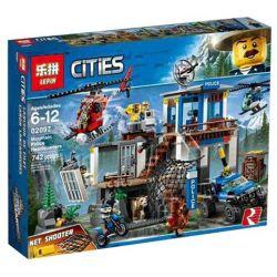 Lepin 02097 Sheng Yuan 6998 SY6998 Lele 28014 Bela 10865 (NOT Lego City 60174 Mountain Police Headquarters ) Xếp hình Trụ Sở Cảnh Sát Núi 742 khối