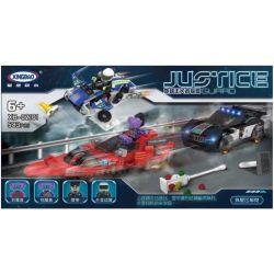 Xingbao XB-02101 (NOT Lego Justice Guard Sports Cars And Police Cars ) Xếp hình Cuộc Truy Đuổi Tên Tội Phạm Nguy Hiểm 583 khối