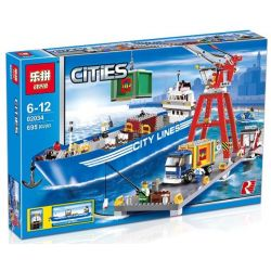 NOT Lego CITY 7994 LEGO City Harbour Super Freight Port , LEPIN 02034 Xếp hình Bến Cảng 659 khối