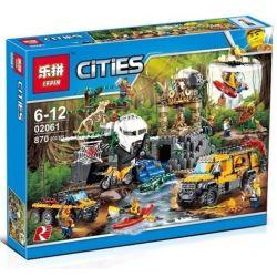 NOT Lego CITY 60161 Jungle Exploration Site , Bela 10712 Lari 10712 LELE 39065 LEPIN 02061 Xếp hình Thám Hiểm Khu Rừng 813 khối