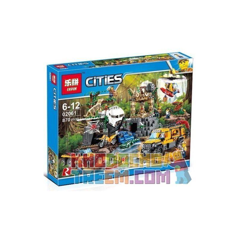 Lepin 02061 Bela 10712 Lele 39065 (NOT Lego City 60161 Jungle Exploration Site ) Xếp hình Thám Hiểm Khu Rừng 870 khối