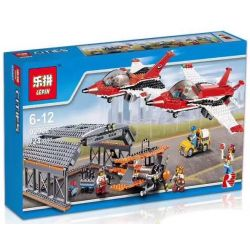Lepin 02007 (NOT Lego City 60103 Airport Air Show ) Xếp hình Triển Lãm Hàng Không 723 khối