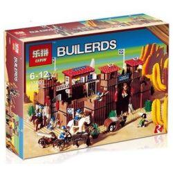 LEPIN 33001 Xếp hình kiểu Lego WESTERN Fort Legoredo Legoredo Bunker Erddorado Pháo đài gồm 2 hộp nhỏ 673 khối