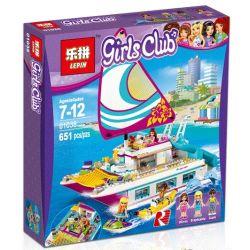 Bela 10760 Lari 10760 LELE 37037 LEPIN 01038 Xếp hình kiểu Lego FRIENDS Sunshine Catamaran Sunshine Sail Thuyền Buồm Ánh Dương 603 khối