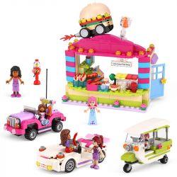 XINGBAO XB-12012 12012 XB12012 Xếp hình kiểu Lego CITY GIRL CityGirl Snack Break Campus Girl Campus Small Selling Department Cửa Hàng Tiện Lợi ở Trường Học 734 khối