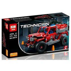 Lepin 20079 Decool 3375 Bela 10824 Mouldking 13006 (NOT Lego Technic 42075 First Responder ) Xếp hình Xe Cứu Hỏa Cơ Động Xe Đua Công Thức 1 lắp được 2 mẫu 575 khối