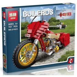 Lepin 21023 (NOT Lego Creator Harley Motercycle ) Xếp hình Mô Tô Phân Khối Lớn Màu Đỏ 781 khối