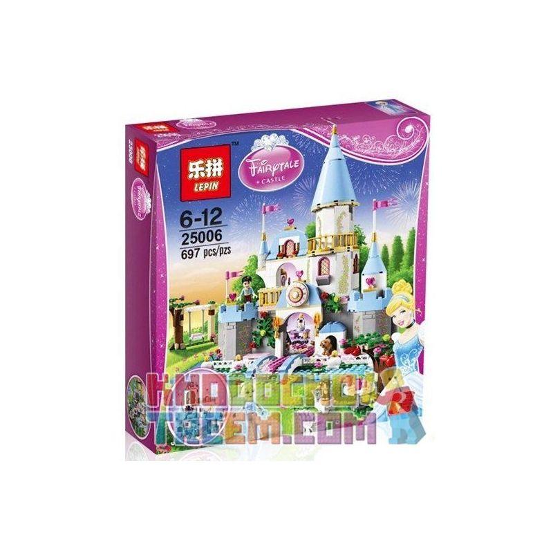 Lepin 25006 Lele 79279 Sheng Yuan 325 SY325 Jiego JG305 (NOT Lego Disney Princess 41055 Cinderella's Romantic Castle ) Xếp hình Lâu Đài Của Lọ Lem 697 khối
