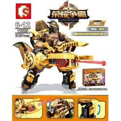 SEMBO 11889 Xếp hình kiểu Lego KING OF GLORY HEGEMONY 魂 重 重 黄 黄 黄 Quyền Bá Chủ Vinh Quang Huang Tsai 345 khối