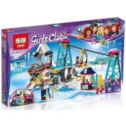 NOT Lego FRIENDS 41324 Snow Resort Ski Lift Ski Resort Lifting Cable Car , Bela 10732 Lari 10732 LELE 37028 LEPIN 01042 Xếp hình Cáp Treo Khu Trượt Tuyết 585 khối
