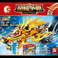 SEMBO 11890 Xếp hình kiểu Lego KING OF GLORY HEGEMONY Glory Hegemony rồng vàng Đông Hải 375 khối