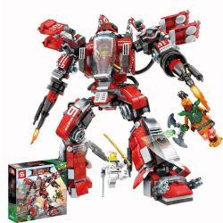 SHENG YUAN SY SY926 Xếp hình kiểu THE LEGO NINJAGO MOVIE Kai's Blood Machine Robot Phun Lửa Của Kai 737 khối