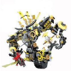 SHENG YUAN SY SY925 Xếp hình kiểu THE LEGO NINJAGO MOVIE 寇 独 独 甲 Robot 1 Bánh Của Cole 702 khối