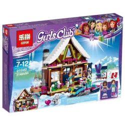 Bela 10731 Lari 10731 LEPIN 01040 Xếp hình kiểu Lego FRIENDS Snow Resort Chalet Ski Resort Low Nhà Gỗ Khu Trượt Tuyết 402 khối